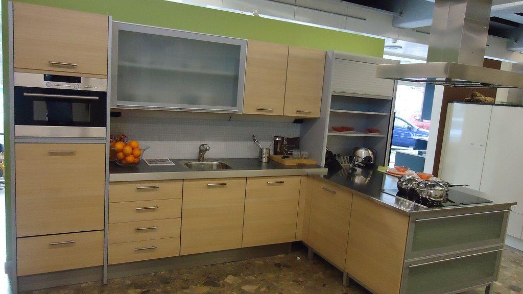 De voordeligste woonwinkel licht eiken titaan hoek keuken 45352 - Keuken licht eiken ...